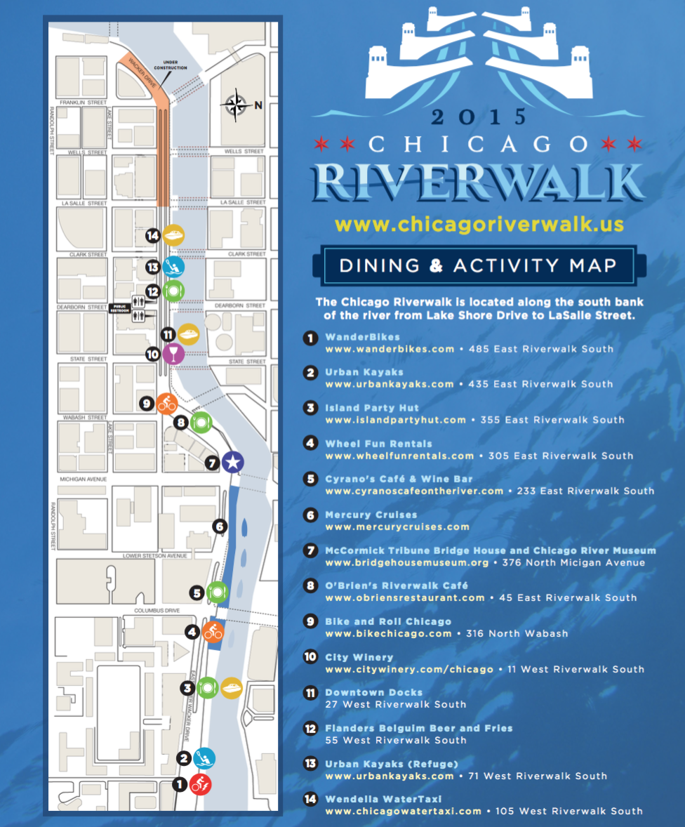 Things to do in Chicago l The Westin Chicago River North – Downtown Chicago Tourist Map